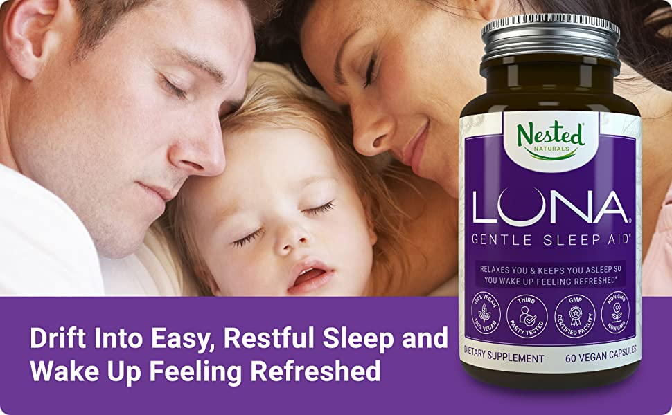 Luna | #1 Sleep Aid on Amazon | Naturally Sourced Ingredients | 60  Non-Habit Forming Vegan