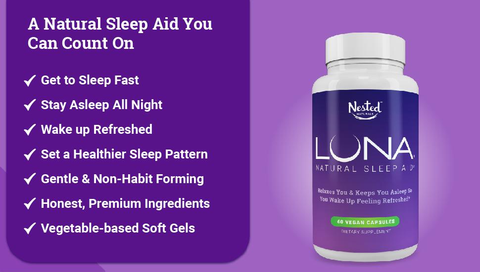 luna 1 natural sleep aid herbal nonhabit forming