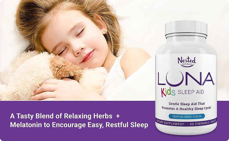 Nested Naturals Luna Kids Sleep Aid Melatonin Blend