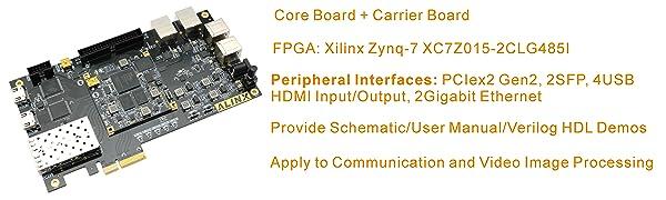 Amazon com: AXSOC Brand XILINX FPGA Development Board ZYNQ XC7Z015