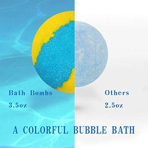 Super large bath bombs, make your bath experience wonderful.