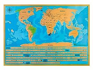 Amazoncom Hiberno Scratch The World Travel Map USA States And - Scratch us map