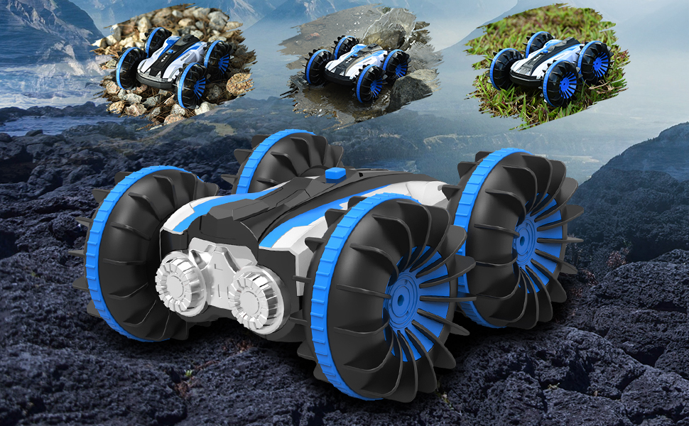 ALLCACA Waterproof RC Car 4WD Off-Road