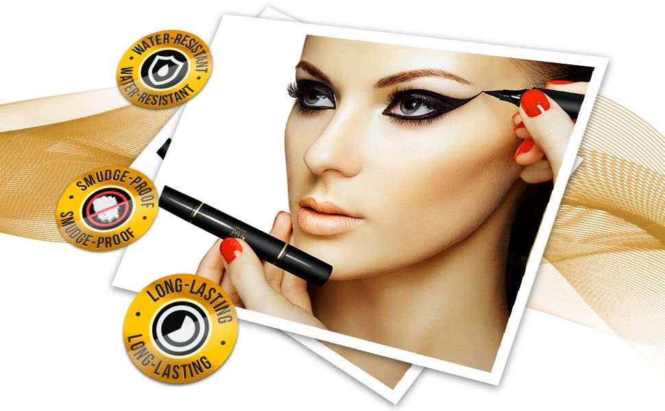 pencil, Vamp style wing, smudgeproof, waterproof, long-lasting, No Dripping (10mm Original)