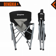 KingCamp Heavy Duty Steel Camping Folding Director Chair with Cooler Bag and Side Table