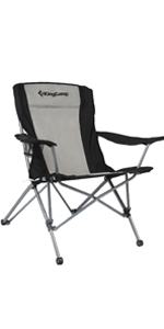 KingCamp Ultralight Compact Strong High Back Folding Chair with Armrest Cup Holder Only 3.7 lbs