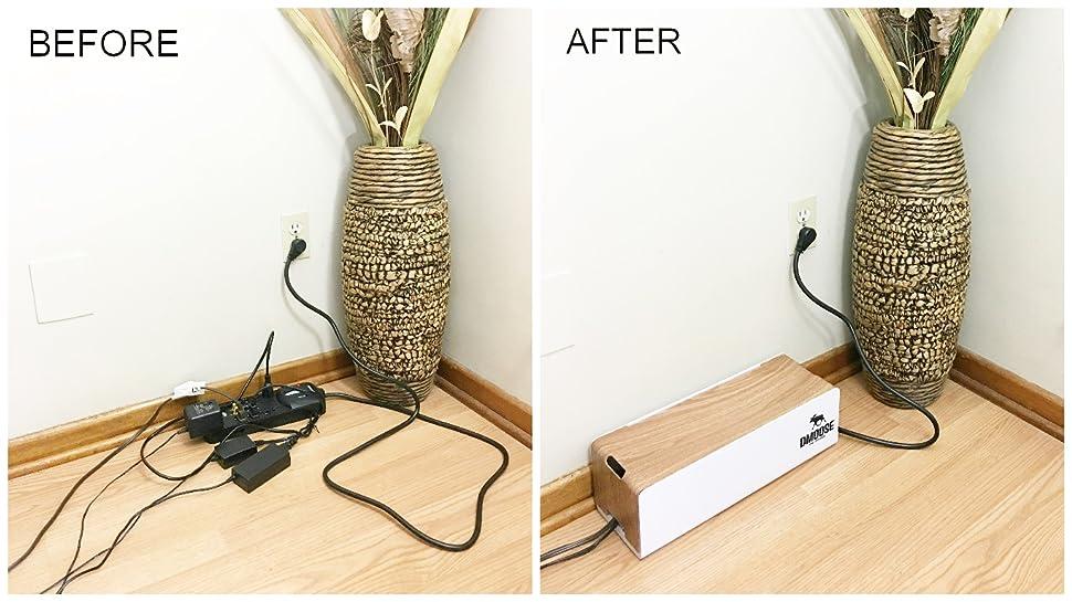 Amazon.com: DMoose Cable Management Box Organizer - ABS material ...