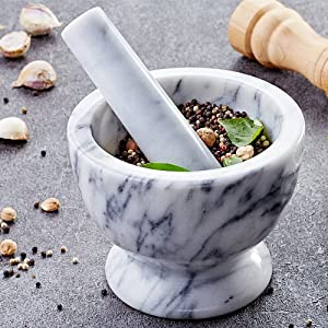 JEmarble Mortar and Pestle