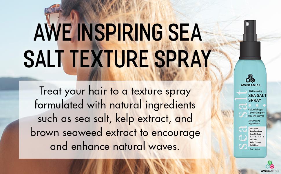 gloss hair spray surf foam spray blow dry rock your volumizer sea safe spray brown seaweed extract