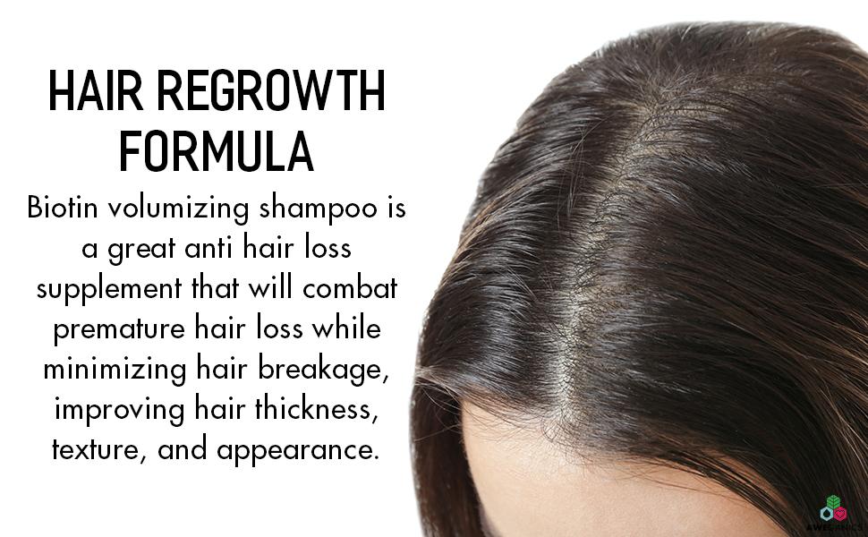 hair growth and thickening shampoo anti hairloss formulated aloe vera hair growth biotin shampoos
