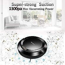 Amazon.com: Robot aspiradora 1300Pa fuerte succión ...