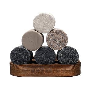 Amazon.com: Juego de regalo de piedras para batir whisky, 6 ...