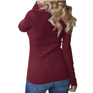 3644054ffd61c1 Womens Henley Shirts Long Sleeve Casual Ribbed Scoop Neck Button Up ...