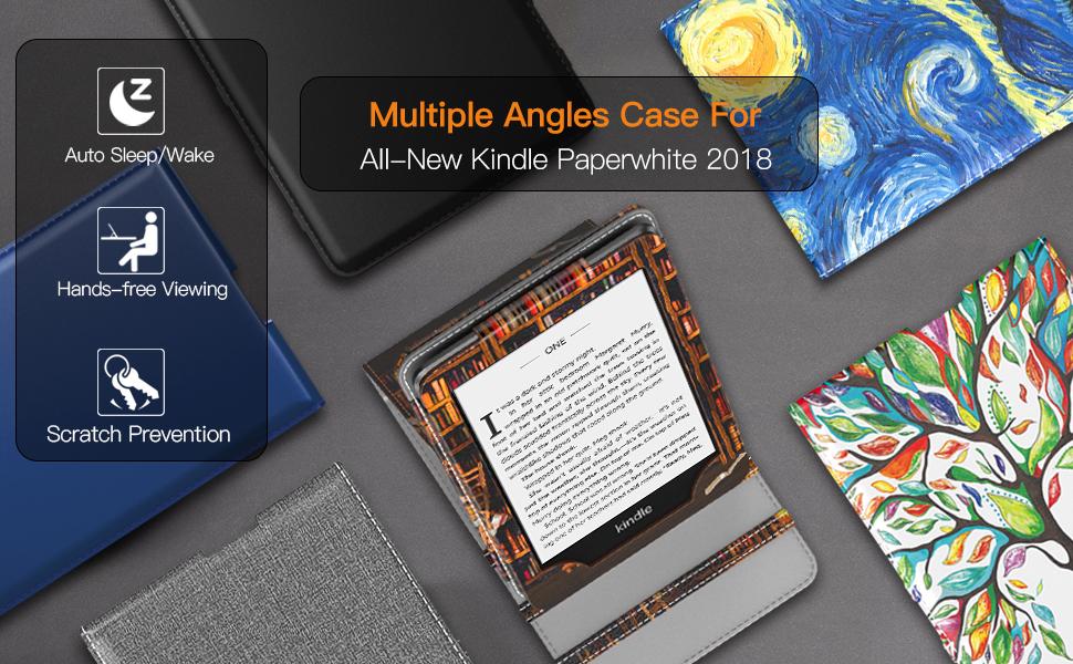 Ultra Delgada Ligera Smart-Shell Soporte Cover Case para  Kindle Paperwhite 2018 E-Reader Pr/íncipe 10th Gen, 2018 Releases TiMOVO Funda para Kindle Paperwhite