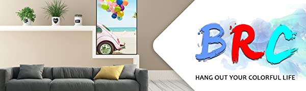 BRC (Blue Red Cyan) hang out your colorful life wall art decoration painting