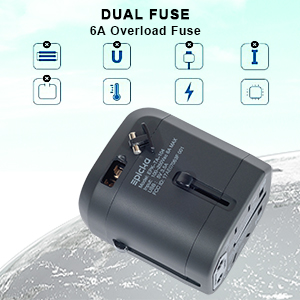 Amazon Com Universal Usb Travel Power Adapter Epicka All In One Wall Charger Ac Power Plug