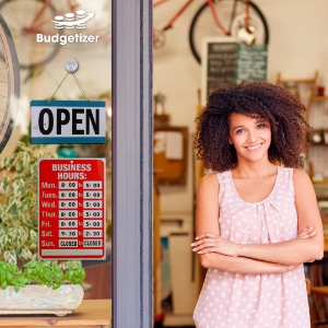 business hours open sign save time customize