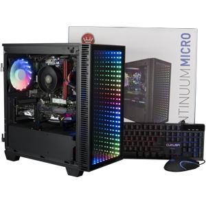 pc desktop gaming infinity rgb micro matx amd intel gpu cyberpowerpc cuk continuum keyboard mouse
