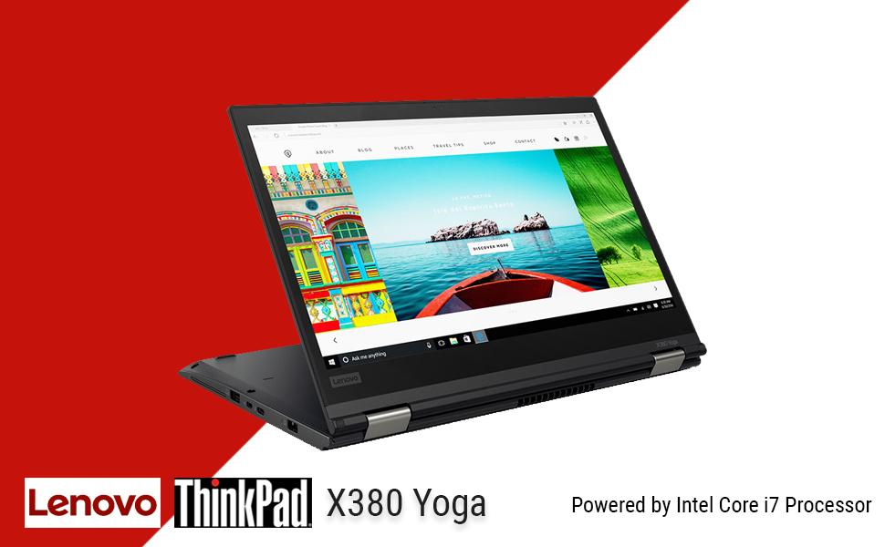 CUK Thinkpad X380 Yoga Touchscreen Laptop (Intel i7-8550U, 8GB RAM, 500GB NVMe SSD, 13.3