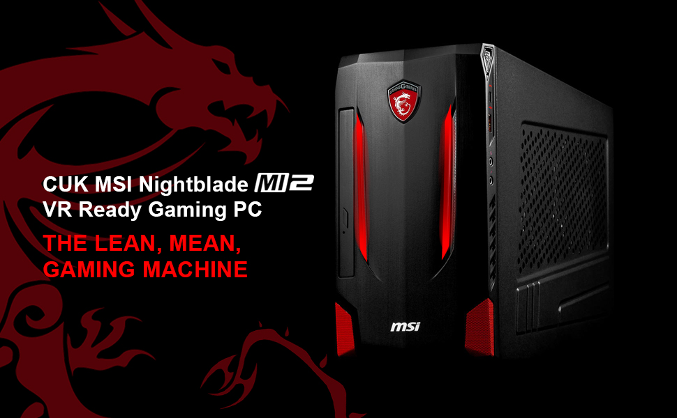 Amazon com : CUK MSI Nightblade MI2 VR Ready PC for Gamers