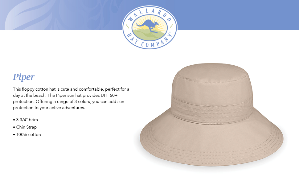 dcf7e3f0898 wallaroo hat company serious sun protection upf active water sports piper  sun hat