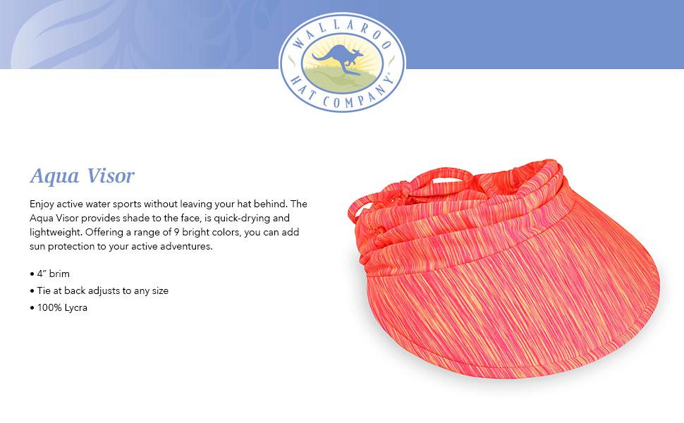 wallaroo hat company serious sun protection womens aqua visor active water sports