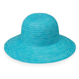 Wallaroo Hat Company Women s Petite Scrunchie Sun Hat - Black White ... b823dc4eb81