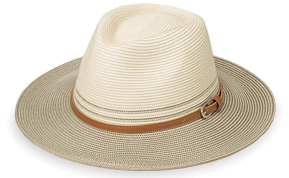 3c81de14 Wallaroo Hat Company Kristy - Packable, UPF50+, Ivory/Black at ...