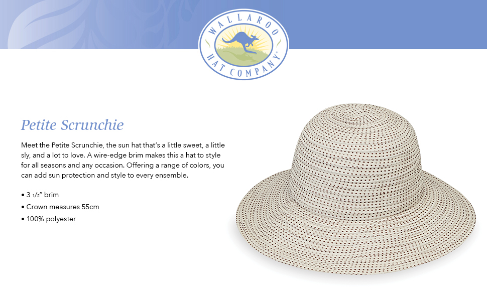 8307f4bec Wallaroo Hat Company Women's Petite Scrunchie Sun Hat – UPF 50+, Packable  for Every Day, Designed in Australia.