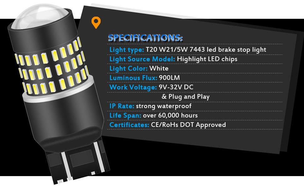 7443 T20 W21/5W LED Bulbs