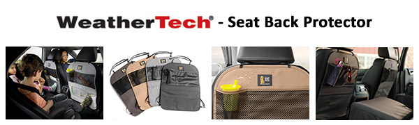 Kick Mat and Organizer for The Back of Your Seat Cocoa WeatherTech Seat Back Protector
