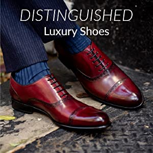 """d8cc3e4c973 Leather oxfords in cherry-brown ombre with laces. """"Distinguished Luxury  Shoes"""" written"""