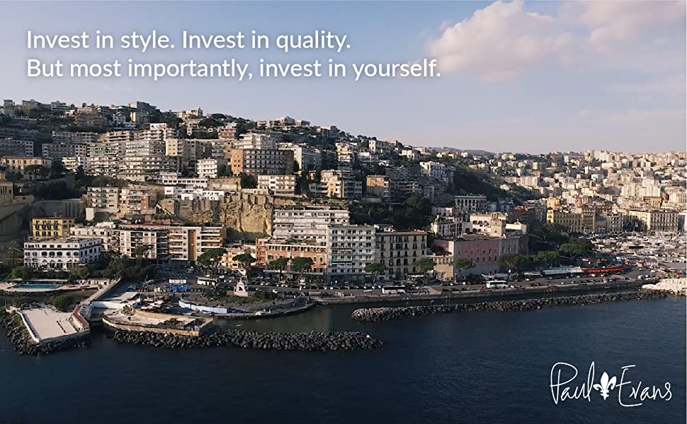 """Italian city. """"Invest in style. Invest in quality. But most importantly, invest in yourself"""" above."""