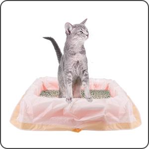 Amazon.com: Bolsas de arena para gatos con bolsa de cordón ...