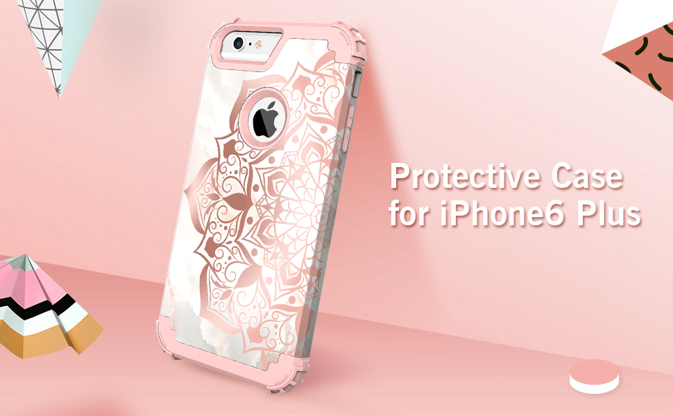 Soft Silicone TPU and Premium Hard PC Perfect Fit Case for Apple iPhone 6 Plus//iPhone 6S Plus Anti Shock Protection Case Rose Gold 2 CUSKING iPhone 6 Plus//iPhone 6S Plus Case
