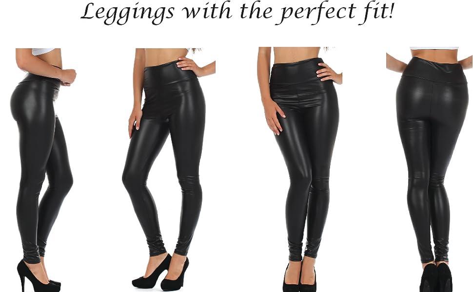 325fc959cd5f7 leggings pants tights liquid metallic stretch light dress up sexy slim ft  PU leather vegan nice