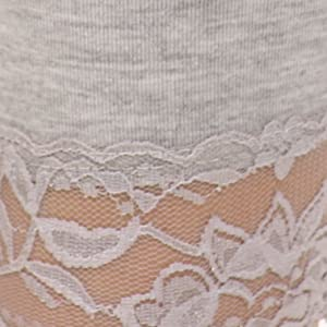 lace trim stretchy sexy light soft leggings for tops tunics elastic soft