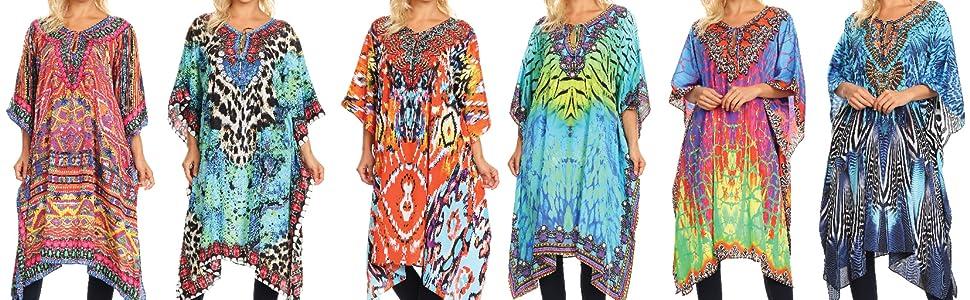1bcc8880d5c53 Sakkas 1822 - Jenni Women's Mid Length Boho Caftan Kaftan Dress ...