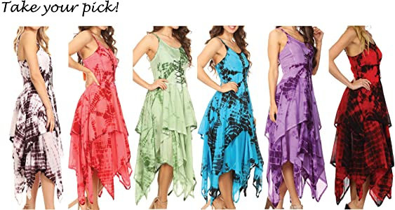 The Fairy Dress by KarmaSuitsya Romal Free Size Silk Hankercheif Skirt w Full Elastic Waist Strapless  Strapped  Halter Neck