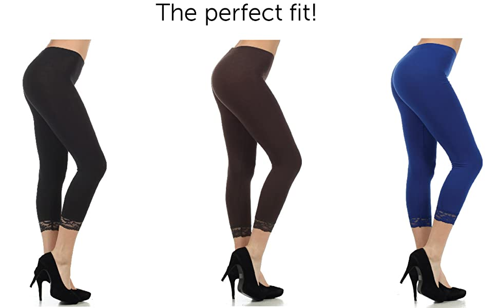 legging slimming lace calf  4 way stretch solid color super soft opaque slim yoga pants tights dress