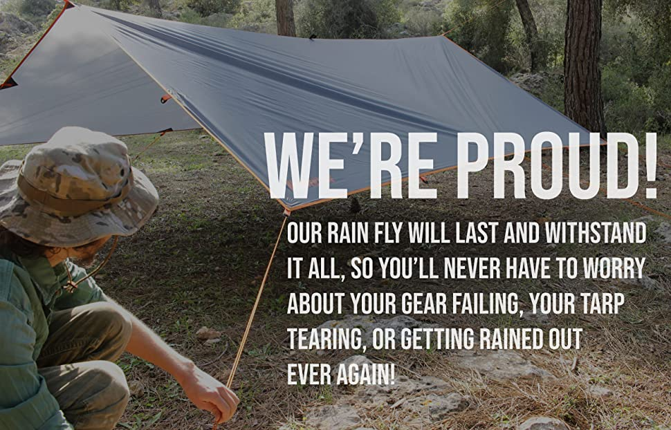 8209a932fdd Amazon.com   WildVenture Tent Tarp Rain Fly - Waterproof Lightweight ...