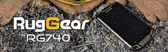 RugGear RG740 Rugged Smartphone Unlocked (Black)   Product