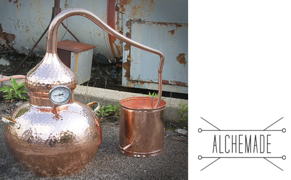 5 Gallon Copper Alembic Still for whiskey, moonshine, essential oils, etc