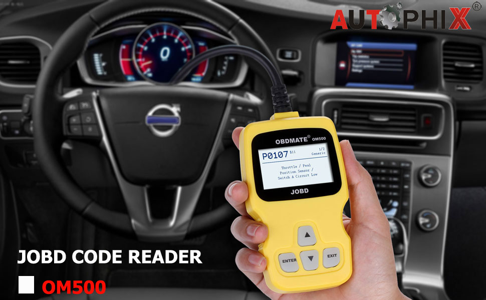 AUTOPHIX Japanese Vehicles Scanner OM500 JOBD Engine Code Reader for Toyota  Nissan Honda etc(Yellow)