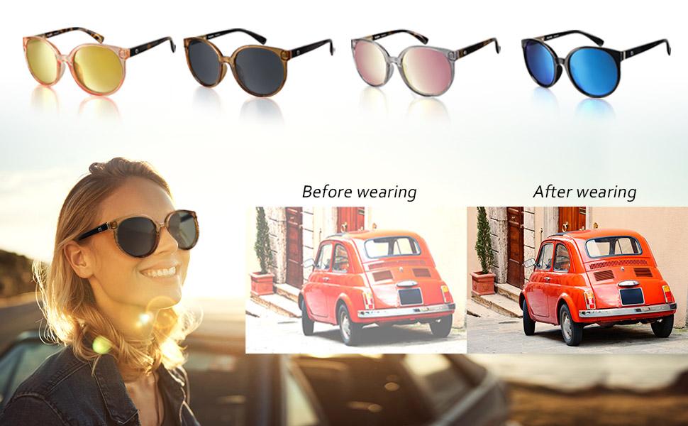 Aspen 70194 Fashion Polarized Sunglasses by Flux for Women uv400