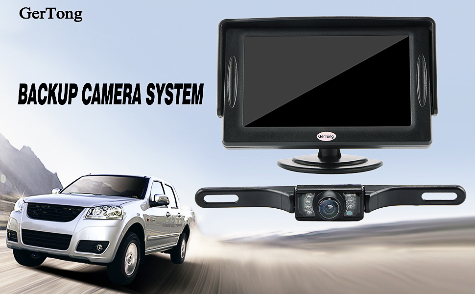 amazon com backup camera and monitor kit for car, gertong universal backup camera wiring diagram 12v supports multi role display ultra low power consumption to prevent overheat mini size and handy, very convenient for carrying and installing