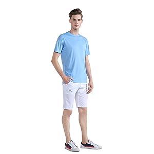 sky blue sports shirt