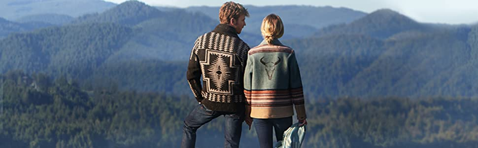 Pendleton Mens Westerley Full Zip Sweater