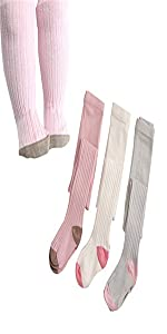 Ehdching 5 Pack Cute Cable Knit Cotton Tights Pantyhose Leggings Stocking Pants for Baby Toddler Kids Girls