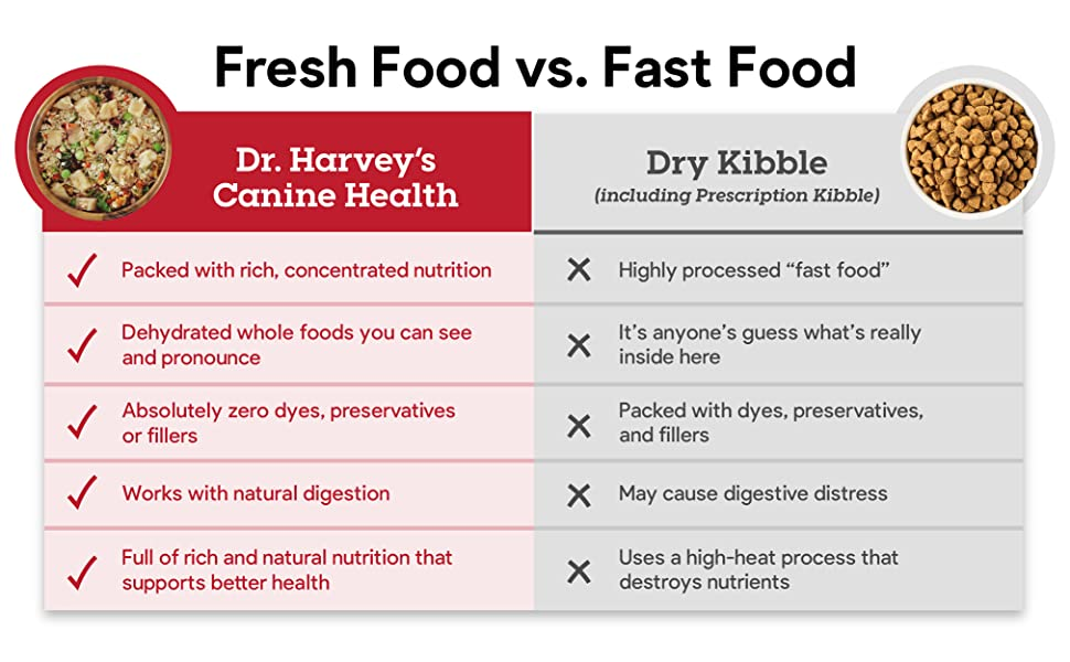 fresh food vs fast food for dogs